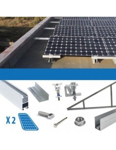 Kit Installation 1 Panel mit Dicke 4-5cm Flachdächer Photovoltaik Solar