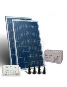 Kit solaire pro 200W Panneau Contrôleur de charge 20A - PWM Batterie 110Ah GEL