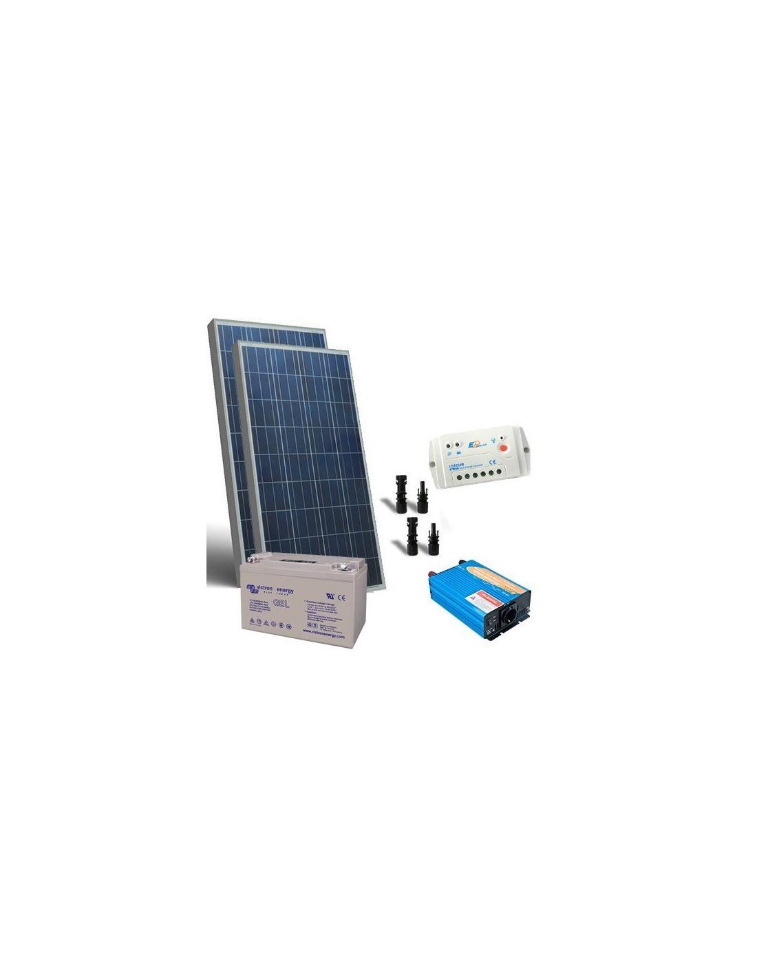 Kit Pannello Solare Batteria Inverter : Kit solare baita w v base pannello inverter