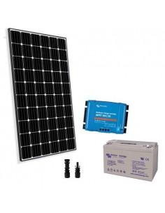 Kit Solare Pro2 300W 12V Pannello Europeo Regolatore 30A Batteria 110Ah GEL