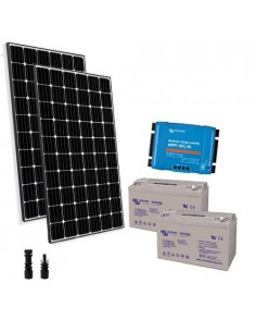 Kit Solare Pro2 600W 24V Pannello Europeo Regolatore 30A Batteria 110Ah GEL