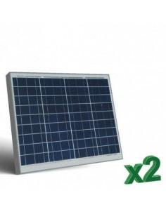 Set 2 x Panneau Solaire Photovoltaique 60W 12V SR tot. 120W Camper Bateau Hutte