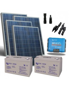 Kit Solaire 600W 12V Pro2 Panneau Contrôleur de charge 45A Batterie 220Ah GEL
