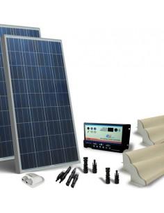 Kit Solare Camper 300W 12V Base Pannello Fotovoltaico, Regolatore, Accessori