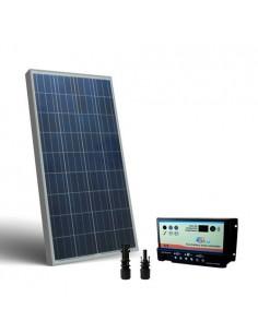 Kit Solare Camper 130W 12V Pannello Fotovoltaico, regolatore per due Batterie