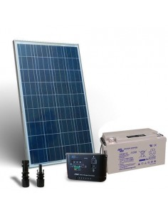Kit Solare 120W 12V Pro SR Fotovoltaico Regolatore 10A PWM Batteria 60Ah