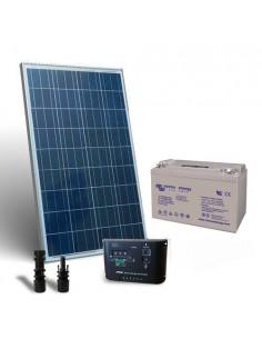 Kit Solare 150W 12V Pro SR Fotovoltaico Regolatore 10A Batteria 110Ah GEL