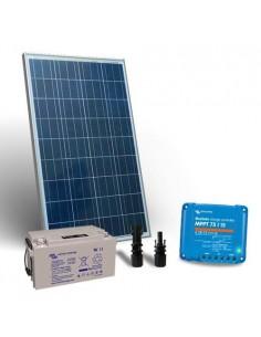 Kit Solare 150W 12V Pro2 SR Fotovoltaico Regolatore 15A MPPT Batteria 90Ah