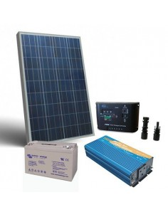 Kit Solare Baita 150W 12V Pro SR Pannello Inverter Regolatore Batteria 110Ah GEL