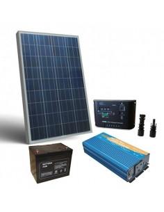Solar-Kit Hütte 150W 12V Pro SR Solarmodul Laderegler Wechselrichter Batterie