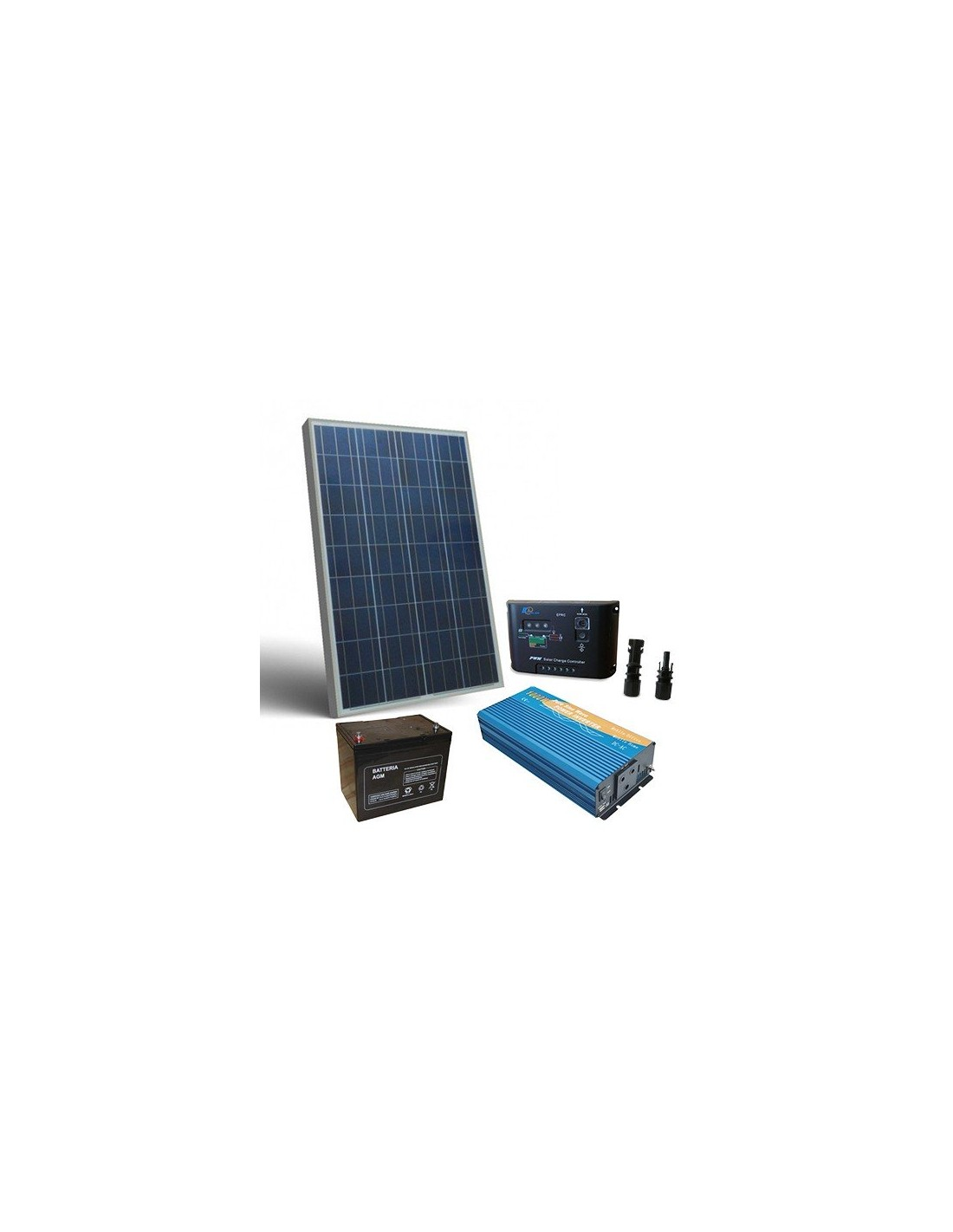 Kit Regolatore Di Carica Pannello Solare : Kit solare baita w v pro sr pannello regolatore di