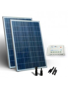 Kit Solaire 300W 12/24V Base SR Panneau Photovoltaique Regulateur 20A PWM MC4