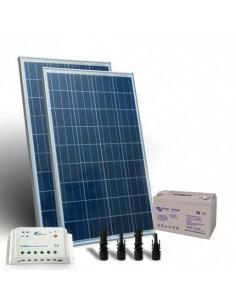 Kit Solare 240W 12V Pro SR Fotovoltaico Regolatore 20A Bateria 110Ah GEL