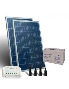 Kit Solare 300W 12V Pro SR Fotovoltaico Regolatore 20A Batteria 110Ah GEL