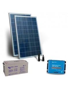 Kit Solare 300W 12V Pro2 SR Pannello Regolatore 30A MPPT Batteria 165Ah AGM