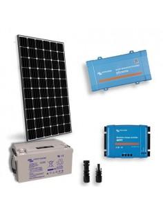 Kit Solaire Chalet Lux 300W 12V Panneau Europèen Onduleur 650W  Batterie 165Ah