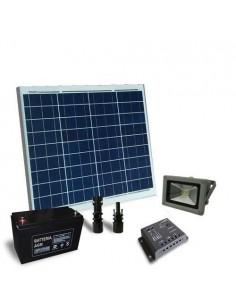 Kit Solare Illuminazione 60W 12V per Esterni con 1x Faro LED 20W Fotovoltaico