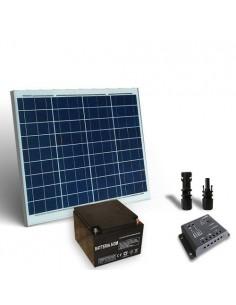 Kit Solare Pro 60W 12V Pannello Fotovoltaico Regolatore 5A PWM Batteria 26Ah 12V