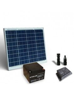 Solar Kit pro 60W 12V Solar Panel Charge Regulator 5A-PWM 1xBattery 26Ah