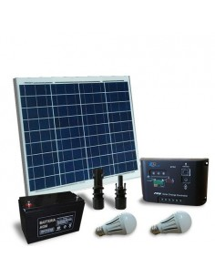 Solar Kit Lighting LED 60W 12V for Inside Photovoltaic Off-Grid