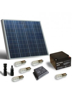 60W SOLAR VOTIVE KIT, solar PANEL, battery, charge regulator VOTIVE lamps
