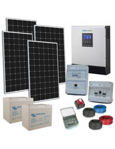 Kit Casa Solare TR Plus 1.2kW 24V Inverter 3000W Batteria AGM Super Cycle 100Ah