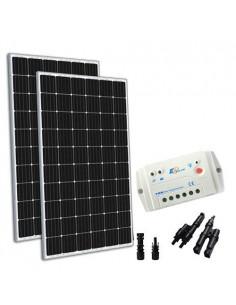 Kit Solare 600W 24V TR Base Pannello Regolatore 30A PWM Casa Baita