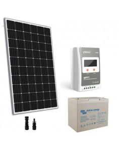 Kit Solare 300W 12V TR Pro Regolatore 30A MPPT Batteria Super Cycle 100Ah