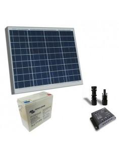 Kit solaire pro 50W Panneau Solaire Regulateur de Charge 5A - PWM Batterie 25Ah