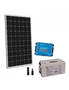 Kit solaire 300W 12V TR Pro2 Panneau Regulateur 30A MPPT Batterie 110Ah