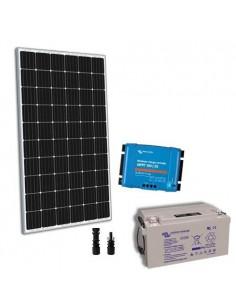 Kit solaire 300W 12V TR Pro2 Panneau Regulateur 30A MPPT Batterie 90Ah
