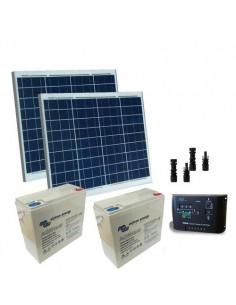 Kit Solaire Portail Electrique Motorisé 120W 24V Panneau Solaire Batterie