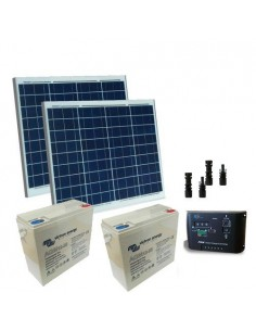 Kit Solare Cancelli Elettrici 120W 24V Pannelli Solari Regolatore di Carica