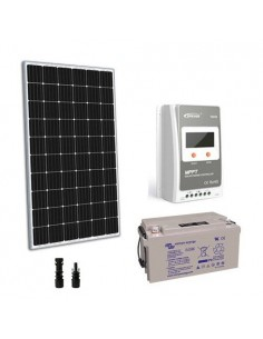 Solar Kit TR Pro 300W 12V Panel Charge Regulator 30A MPPT Battery AGM 90Ah