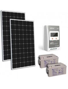 Kit solaire 600W 24V TR Pro Panneau Regulateur 30A MPPT Batterie AGM 90Ah
