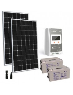 Kit Solare 600W 24V TR Pro Pannello Regolatore 30A MPPT Batteria AGM 110Ah