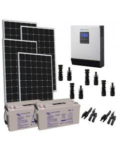 Kit Solaire Chalet 1200W 24V TR Pro batterie AGM 130Ah Onduleur 3000W Panneau