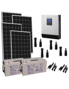 1200W 24V Solar Chalet TR Pro Panel Inverter 3000W battery AGM 165Ah