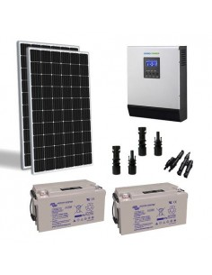 600W 24V Solar Chalet Pro Panel Inverter 3000W battery 110Ah TR