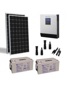Solar-Kit Hütte 600W TR 24V Pro Wechselrichter 3000W batterie 110Ah