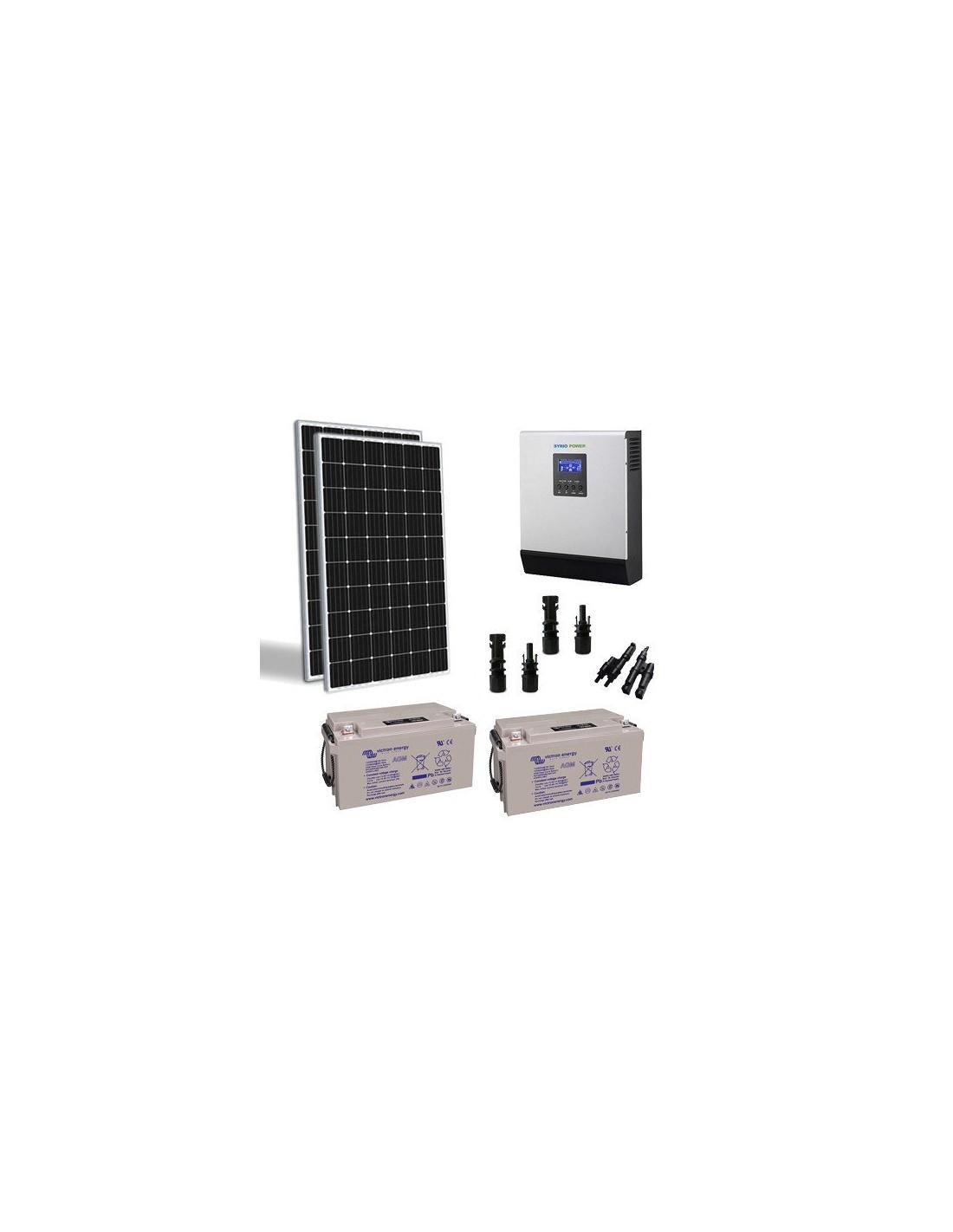 Kit Pannello Solare Batteria Inverter : Kit solare baita w tr v pro pannello inverter