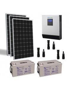 Kit solare baita 900W TR 24V Pro regolatore inverter 3000W batteria 110Ah