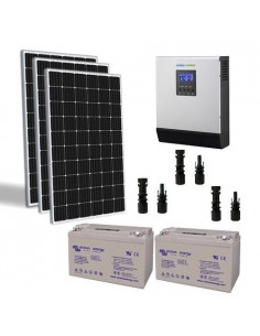 Solar-Kit Hütte 600W TR 24V Pro Wechselrichter 3000W batterie GEL 110Ah