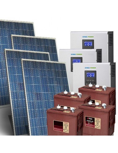 Solar Kit Three-Phase TR Pro 5 4kW Inverter 5000W Battery Flooded 390Ah