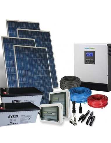 Solar Kit Three-Phase PLUS 5 4kW Inverter 5000W Photovoltaic AGM Battery  200Ah