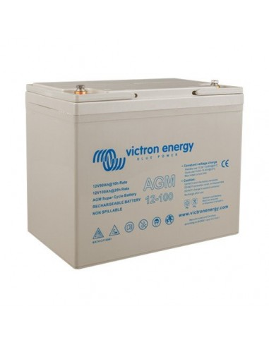 AGM Deep Cycle Battery 90Ah 12V Victron Energy Photovoltaic Nautical Camper