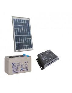 Kit solaire Pro 10W 12V Panneau Solaire Contrôleur 5A PWM Batterie 8Ah AGM 7369bb5ce12e