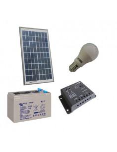 Kit Solare Illuminazione LED 10W 12V per Interni Fotovoltaico Batteria 8Ah 12V