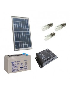 Kit Solare Votivo 20W 12V Pannello Regolatore 5A PWM Batteria 8Ah AGM