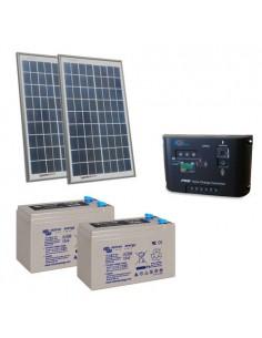 Kit Solaire Portail Electrique 20W 24V Panneau Contrôleur PWM Batterie 8Ah AGM